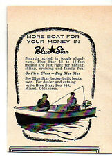 1958 Vintage Ad Blue Star Aluminum Boats More for Your Money Miami,OK