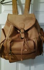 Vintage CLAVA AMERICAN XL Leather Backpack Bookbag overnight tote Hippie