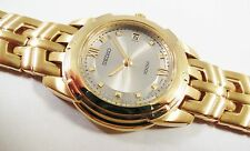 Seiko SXD396 Gold Tone Stainless Steel 7N82-0AV8 Sample Watch NON-WORKING