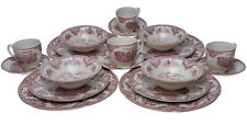 Johnson Bros OLD BRITAIN CASTLES PINK 20 Pc Dinnerware Set - NEW / BOX!