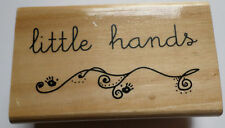 Anita's Words Writing Little Hands Wooden Rubber Stamp