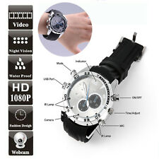 12MP 1080P Spy Hidden Camera DVR Watch Cam IR Night Vision Waterproof 16GB 16G