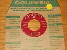 """COUNTRY 45 RPM - JOHNNY BOND - COLUMBIA 21041 - """"OUR LOVE ISN'T LEGAL"""""""