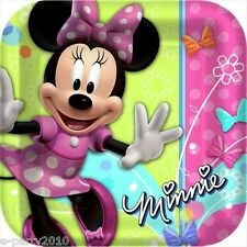 MINNIE MOUSE BOW-TIQUE LARGE PAPER PLATES (8) ~ Birthday Party Supplies Luncheon