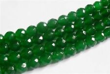 "4mm Natural Emerald Faceted Loose Beads Gemstone 15""AAA"