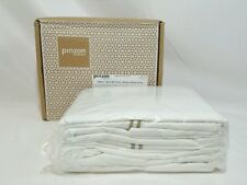 Pinzon 400 Thread-Count Hotel Stitch Egyptian Cotton Sateen Sheet Set Queen