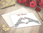 Personalised Love Hands Heart A5 Valentines Card