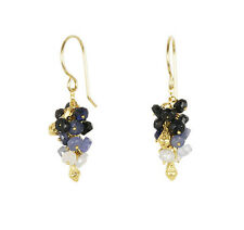 Catherine Weitzman SALE! Gold Sapphire Pod Cluster Earrings (RRP £105)