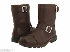 UGG Australia Brown Leather Biker Boot, Size 17, EU 51, NIB!