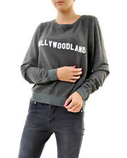 Wildfox Women's Hollywoodland Oversize Jumper Dirty Black Size XS RRP £91 BCF68