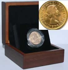 1962 Queen Elizabeth II Gold Sovereign + Capsulated within Luxury Case