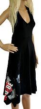Desigual superbe noir jersey robe d'été neuf taille l