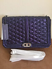 NWT Rebecca Minkoff Jumbo LOVE Quilted Leather Crossbody Shoulder Bag Clutch$355