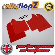 rallyflapZ MG ROVER MG ZR (01-05) Hatchback Mud Flaps Mudflaps Red 3mm PVC