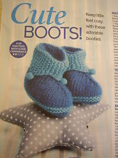 Knitting Pattern Baby's Cute  Bootees  1,3,6 months