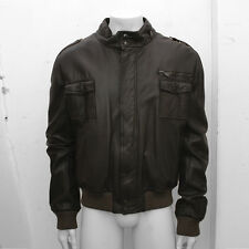 NEW Mens Dior Homme Dark Brown Leather Blouson Jacket GENUINE RRP: £1685 58 XXXL
