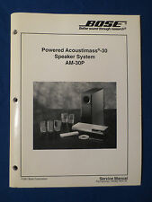 BOSE ACOUSTIMASS 30 SPEAKER SYSTEM AM-30P SERVICE MANUAL ORIGINAL GOOD CONDITION