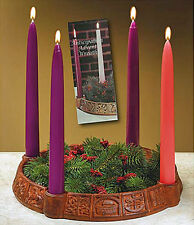 "Abbey Press ""Anticipation"" Advent Wreath Candleholder with 4 Advent Tape Candles"