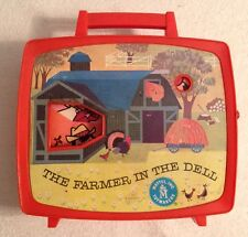 """Vintage Wind Up 1965 """"The Farmer In the Dell"""" Mattel Musical Toy"""