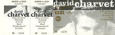 RARE / TICKET BILLET DE CONCERT - DAVID CHARVET LIVE A TOULOUSE 1997 /COMME NEUF