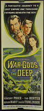 WAR GODS OF THE DEEP,ORIGINAL,14x36,CITY IN THE SEA, VINCENT PRICE,TAB HUNTER