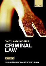 SMITH AND HOGAN'S CRIMINAL LAW - KARL LAIRD DAVID ORMEROD (PAPERBACK) NEW