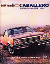 gmc caballero manuals literature 1983 gmc caballero pickup original car s brochure chevrolet el camino