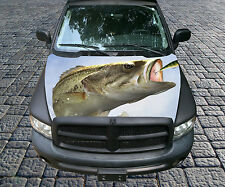 H91 BASS FISH Hood Wrap Wraps Decal Sticker Tint Vinyl Image Graphic