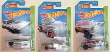 Hot Wheels 2015 ZAMAC  #13-15 71 Challenger, 52 Chevy pickup, 55 Bel Air Gasser