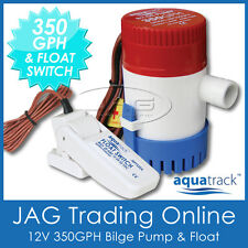 KIT AQUATRACK 350 GPH BILGE PUMP & FLOAT SWITCH - Marine/Boat/Water/Submersible