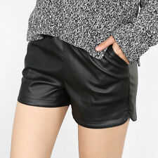Fashion Sexy Women Lady's Faux Leather Hot Pants High Waist Summer Short Shorts