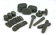 MassageMaster HOT STONE MASSAGE REFLEXOLOGY SET: 34 Basalt Stones