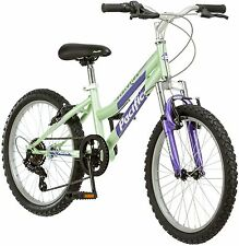 Pacific Evolution 20 Inch Girl's Mountain Bike 6 Speed Steel Frame Green