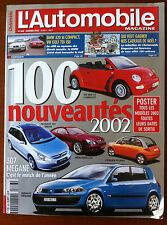 Automobile Mag 01/2002 100 Nouveautés; 307 mégane, CLK, Pluriel, 307 Break