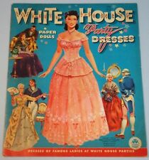 Uncut Book -White House Party Dresses Paper Dolls, Merrill Co. 1961