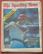 JUNE 16, 1979 SPORTING NEWS SPRING BASEBALL BOSTON RED SOX FRED LYNN