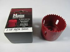 Morse Hole Saw 2 1/8 Inch Bi Metal Boxed Bi-metal Design Bonds Av34MasterCobalt
