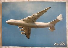 AVIATION Advertising Card AN 225 Air Big Plane Craft Antonov Mriya Characteristi