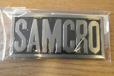 SONS OF ANARCHY SAMCRO SILVER COLOUR BELT BUCKLE - TAKES 4CM BELT