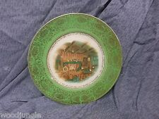 Antique  SALEM CHINA  CENTURY COLONIAL FIRESIDE GREEN PLATE DINNER Vintage