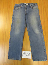 Used Levi 505 regular feathered grunge jean tag 36x30 meas 34x29 19615F