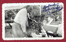JIMMY STEWART SIGNED VINTAGE  PHOTO AT 1952 SOAPBOX DERBY-KOCH COLLECTION