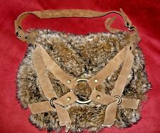 Lucky Brand Suede and Faux Fur Bag