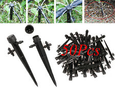 50Pcs Adjustable Water Flow Irrigation Drippers on Stake Emitter Drip System Set