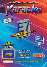 Chartbuster Essential 450 Vol. E7 - 450 MP3G SD Card Karaoke CDG Music 4 PLAYER