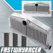 Universal 27''x13''x3.5'' 2 In 1 Out Twin Turbo Aluminum Front Mount Intercooler