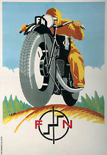 1931 FN Motorcycle Art Deco Poster giclee 13 x 19  Print