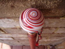 Model A Ford SHIFTER KNOB red marble swirl GEAR KNOB CANE~OAK walking-stick