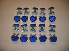 """20 Blue Goliath Tool Mini Bicycle Reflectors 7/8"""" Diameter with Wing nuts"""