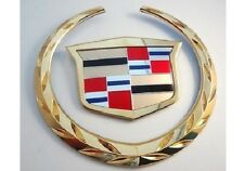 Cadillac STS 2005 2006 2007 Grille WREATH & CREST Emblem! 24K GOLD P:ATED!